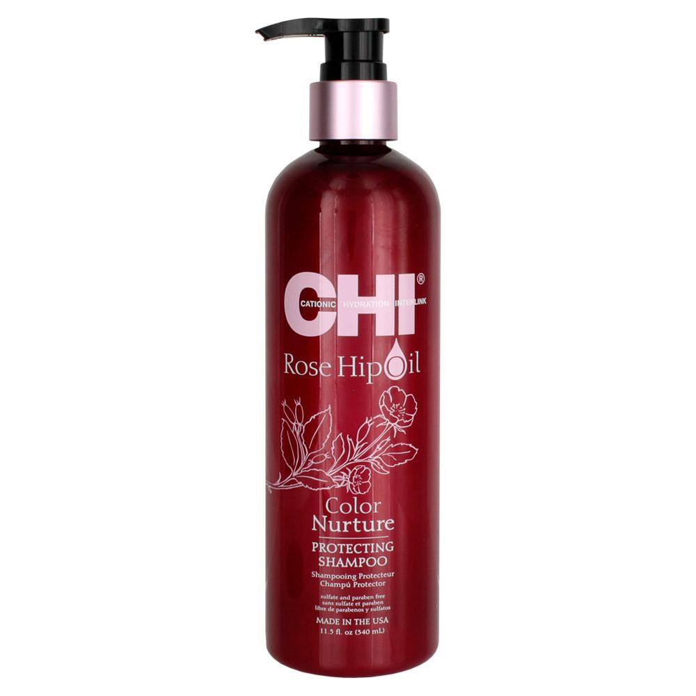 Шампунь для окрашенных волос с маслом розы и кератином