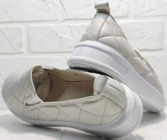 Осенние кеды туфли женские кожаные Alpino 21YA-Y2859 Cream.
