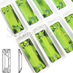 Купить пришивные стразы Peridot, Cosmic Baguette зеленые палочки