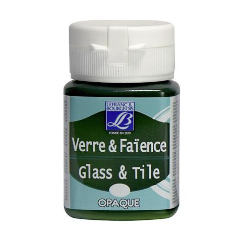 Краска по стеклу и керамике Lefranc&Bourgeois Glass&Tile 50 мл Непрозрачная 524, зеленый чай