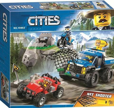Конструктор Cities 10862 Погоня по грунтовой дороге