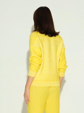 Женский свитер желтого цвета из мохера и кашемира - фото 4