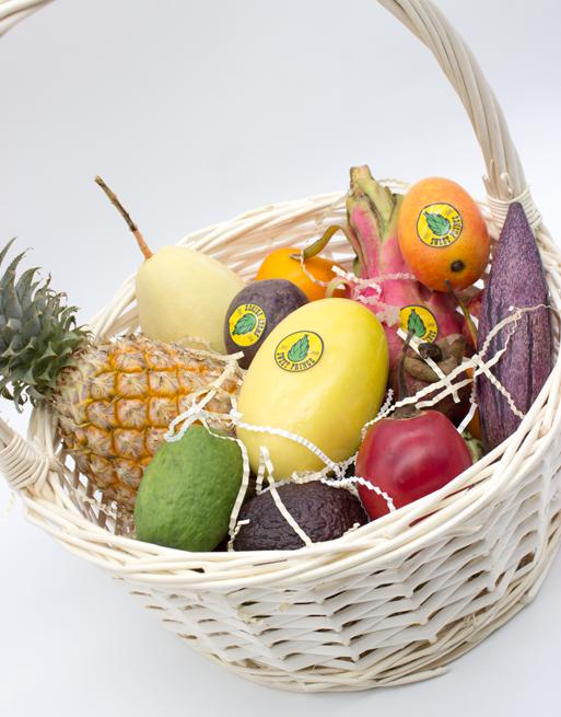 Подарочная Корзина L с фруктами. Лавка экзотических фруктов Sweet Prince