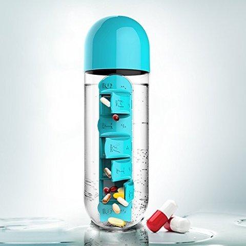 Бутылка органайзер Asobu In style (0,6 литра), голубая