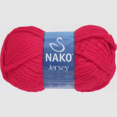 Пряжа Nako Jersey красный 1966