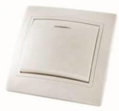 Выключатель 1 клав.с подсв.Таймыр белый