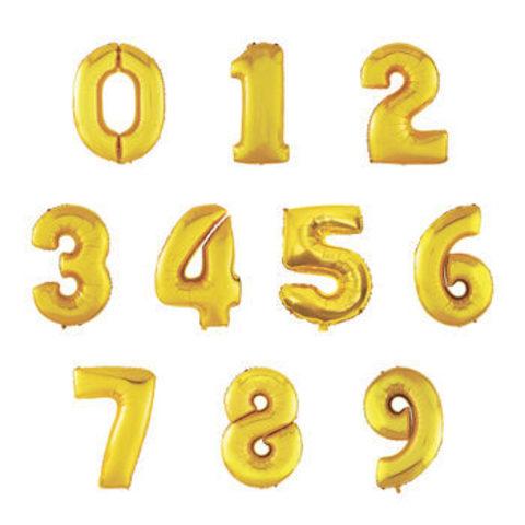 Шар цифра золотая