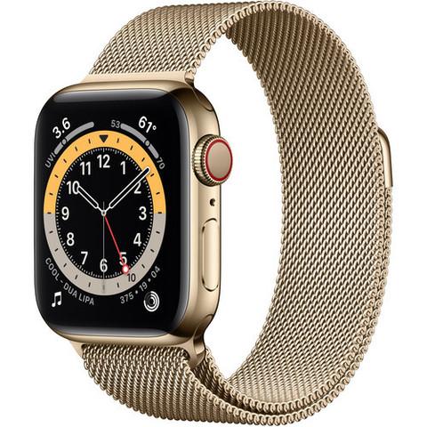 Умные часы Apple Watch Series 6 GPS + Cellular 40мм Stainless Steel Case with Milanese Loop  (Золотистый) (M02X3,M06W3)