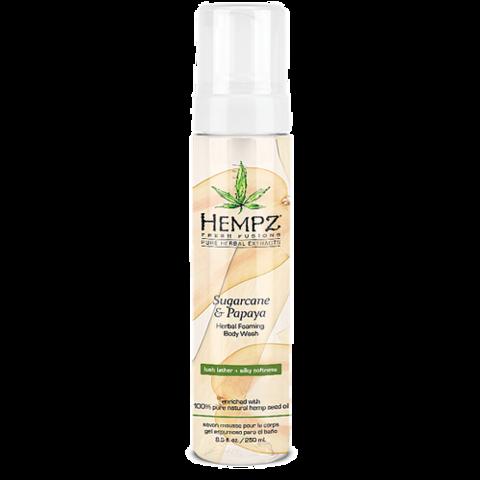 Гель-мусс для душа Сахарный тростник и Папайя / Hempz Sugarcane & Papaya Herbal Foaming Body Wash