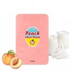 Тканевая маска для лица A'Pieu с экстрактом персика и йогурта 23 гр