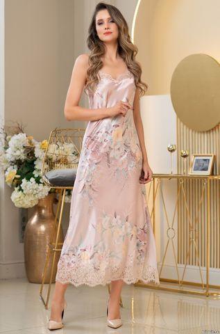 Длинная шелковая ночная сорочка Mia Amore Милинда (70% нат.шелк)
