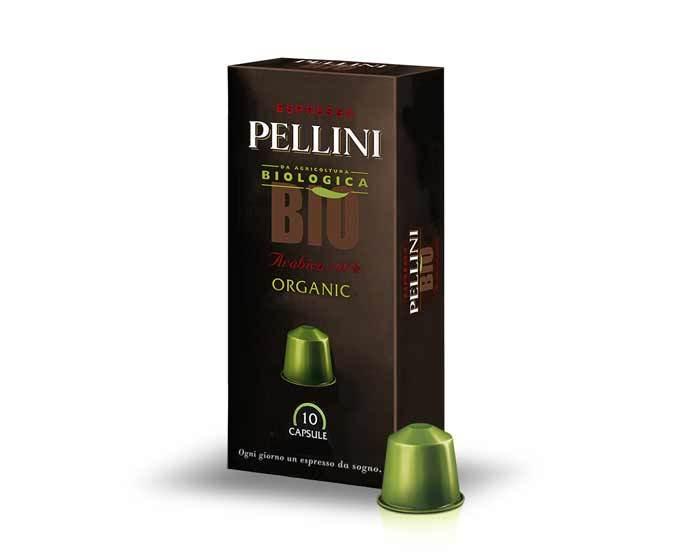 Кофе в капсулах Pellini Bio Organic, 10 капсул (Пеллини)