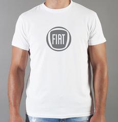Футболка с принтом Fiat (Фиат) белая 001