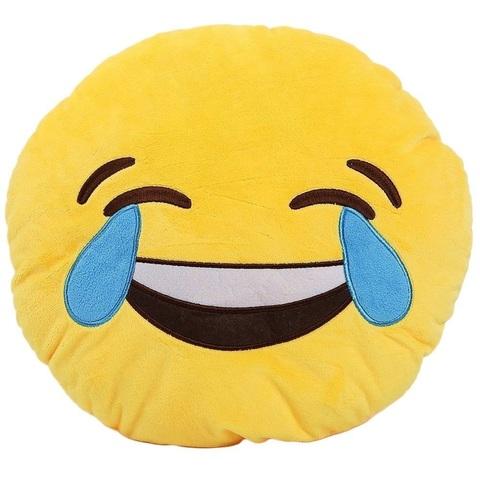 Подушка Emoji Смех до слёз (28 см)