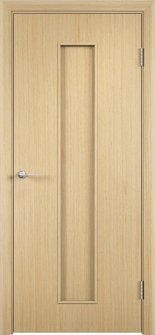 Дверь С-21 (беленый дуб, глухая шпон файн-лайн), фабрика Верда