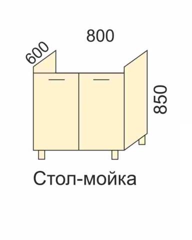 СОФЬЯ, СВЕТЛАНА, ПРЕМЬЕР, ПОЛИНАСтол-мойка 800