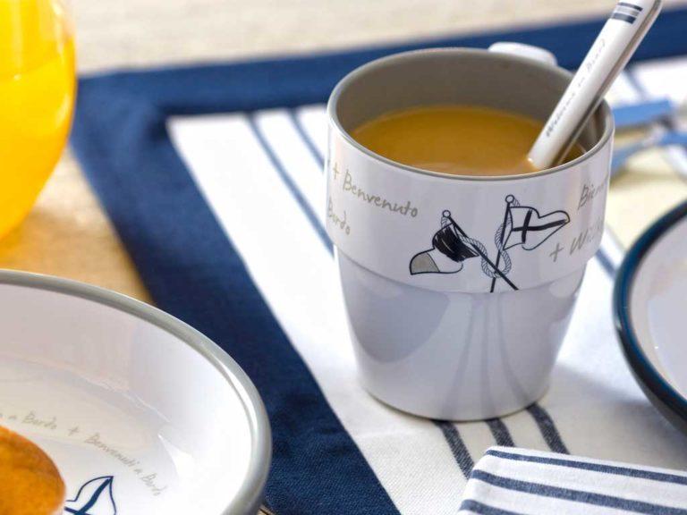 MELAMINE NON-SLIP SOUP DISH, WELCOME ON BOARD