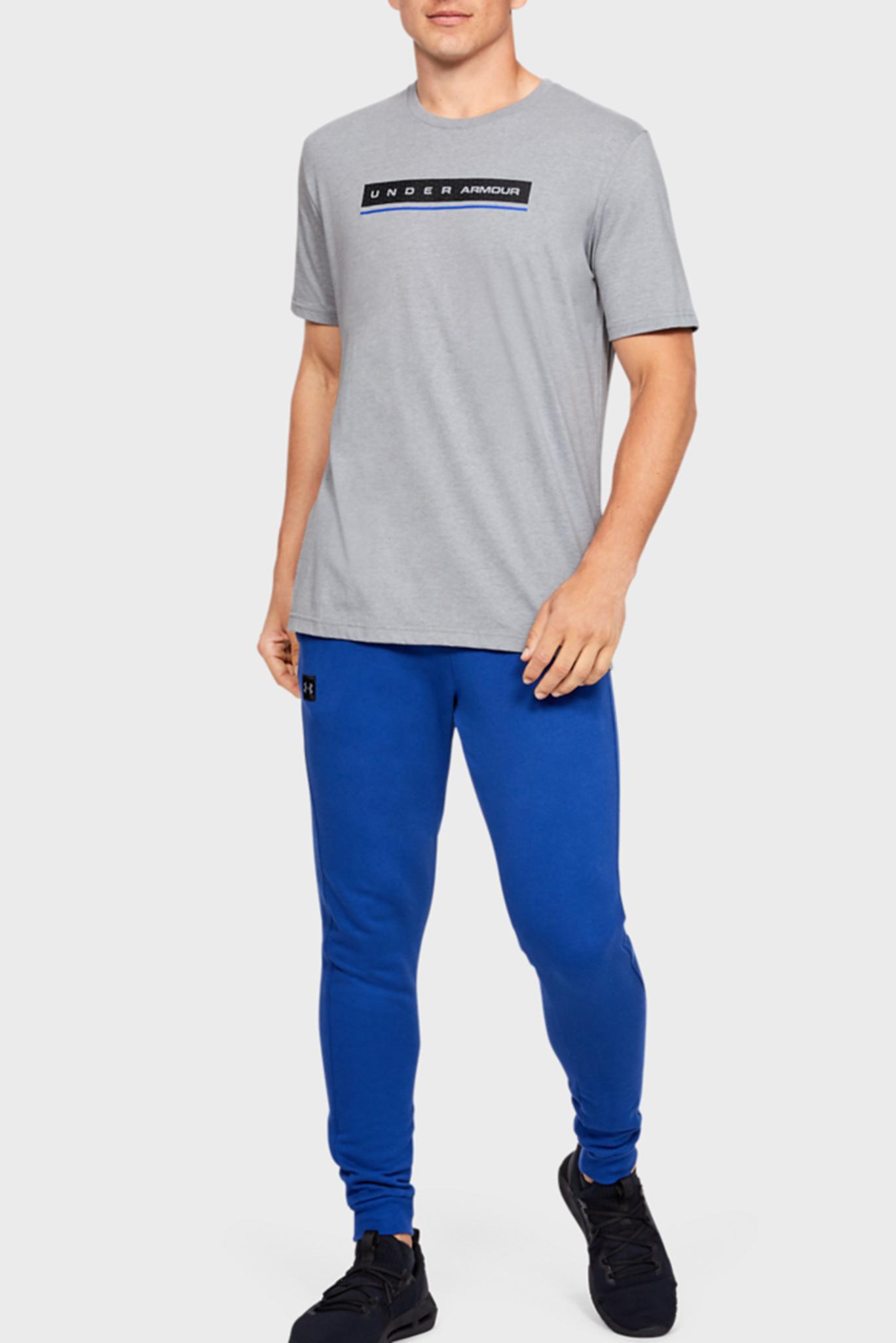 Мужская серая спортивная футболкаUA REFLECTION SS Under Armour