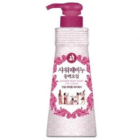 Жидкое мыло-скраб для тела  c камелией Mukunghwa Shower Scrub Soap Camellia Seed Oil