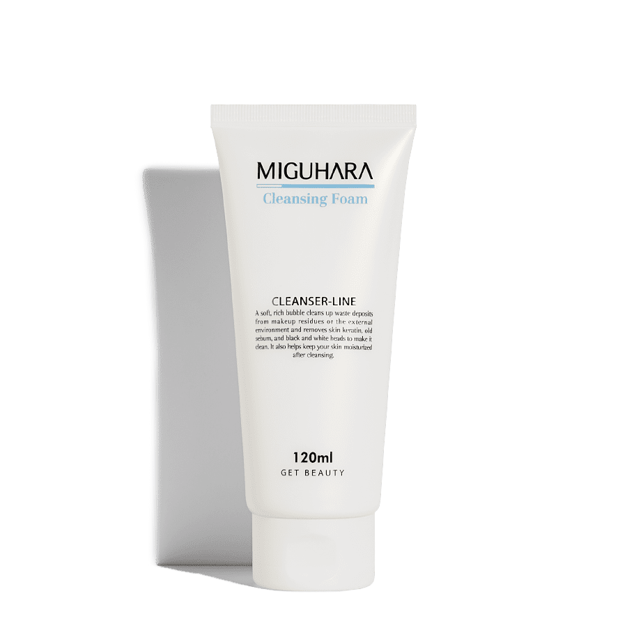 MIGUHARA гипоаллергенная глубокоочищающая пенка для умывания Cleansing Foam, 120 мл.