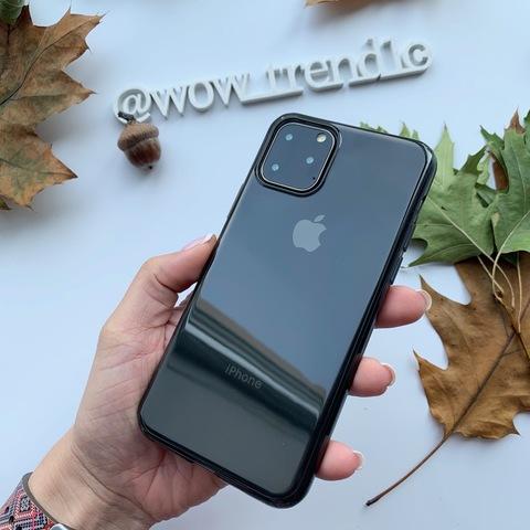 Чехол iPhone 11 Pro Baseus Simple Case /transparent black/