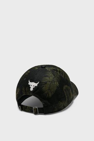 Зеленая кепка с узором UA Project Rock Cotton Cap Under Armour