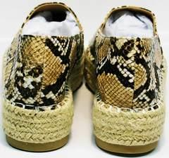 Слипоны женские на платформе Lily shoes Q38snake.