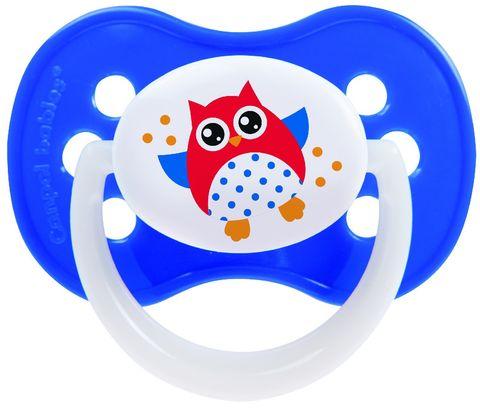 Canpol. Пустышка Owl симметричная силиконовая 0-6 мес., синий