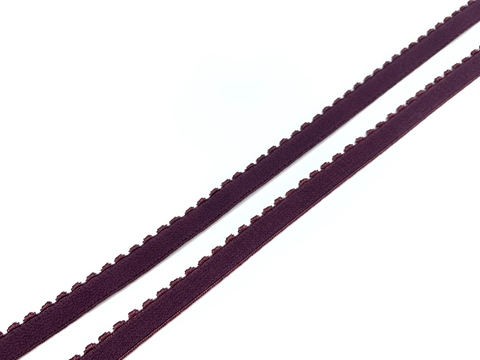 Резинка отделочная слива 10 мм (цв. 076)