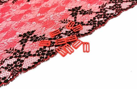 Крючки, 15мм, металл, красные, (Арт: KR/15-100), шт