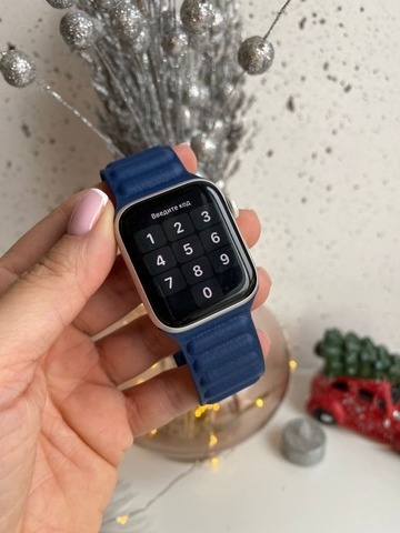Ремешок Apple Watch 42/44 mm Leather Link /midnight blue/