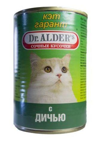 5820 КЭТ ГАРАНТ Кон.д/кошек Дич 415 гр* 24 шт.