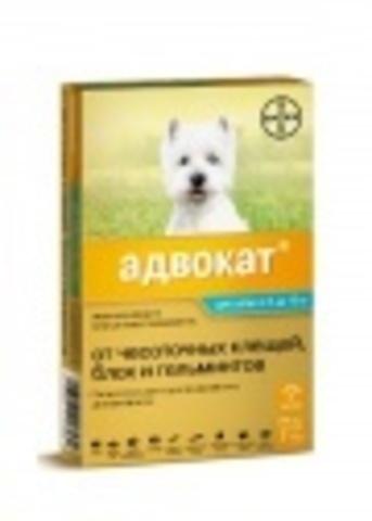 Advocate капли на холку для собак, весом 4-10кг, 1пип.