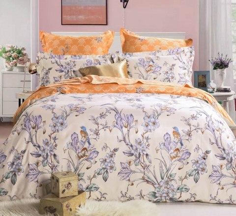 Сатиновое постельное бельё  1,5 спальное Сайлид  В-160