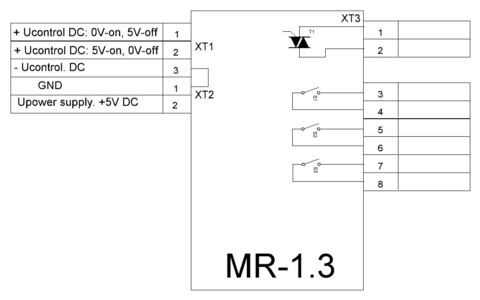 MR-1.3 Relay module cirquit