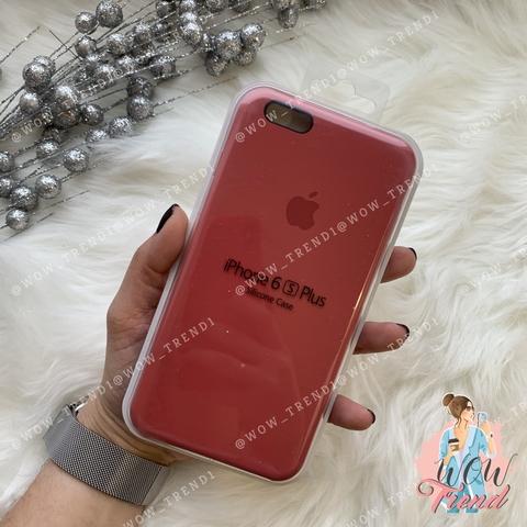 Чехол iPhone 6+/6s+ Silicone Case /camellia/ винный 1:1