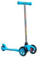 Трехколесный самокат для детей, материал - металл/пластик BIBITU SWEET SKL-06A,  голубой
