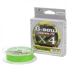 Плетёный шнур YGK G-Soul PE X4 Upgrade 200m #0.8/14lb Green