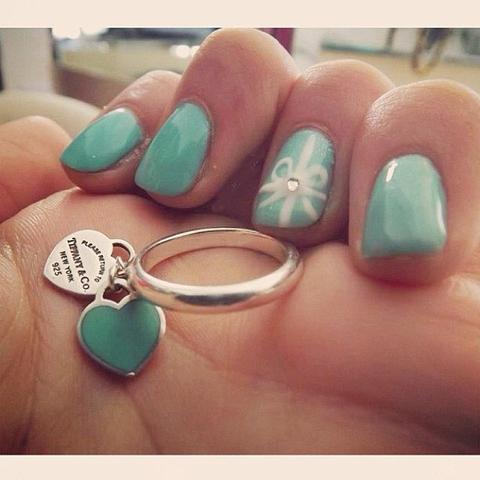 Кольцо Silver Double Blue Hearts