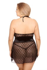Красивая эротичная сорочка со шнуровкой на груди Rhiannon (BS)