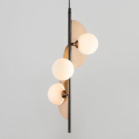 Подвесной светильник 50143/3 золото/черный