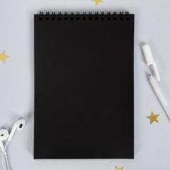 Скетчбук блокнот для рисования с черными листами
