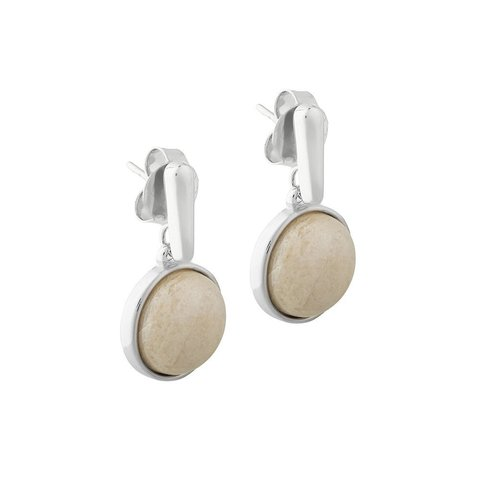 Серьги Pearl Amazonite Beige A1995.12 BR/S