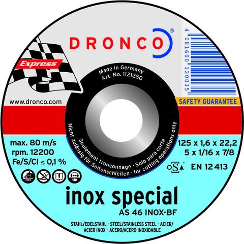 Абразивный отрезной диск Dronco AS 46 INOX 115х1,6