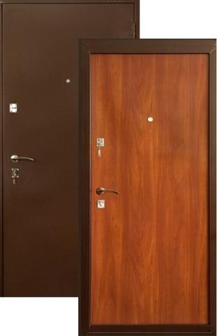 Дверь входная Меги ДС-180, 2 замка, 1 мм  металл, (медь+итальянский орех)