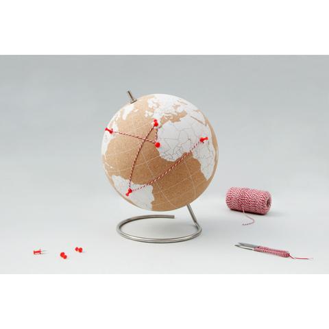 Глобус Cork Globe, белый, Ø25 см