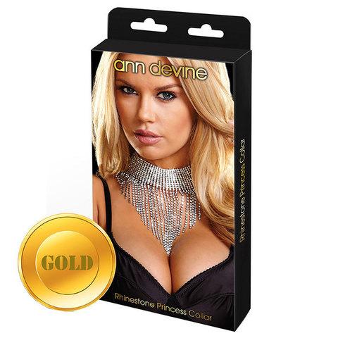 Шикарное золотистое ожерелье Queen