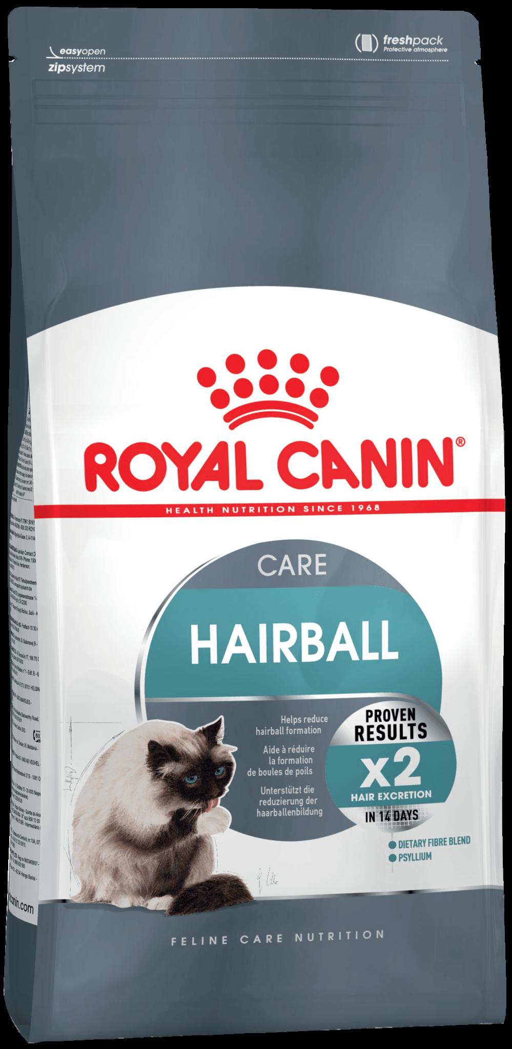 Royal Canin Корм для кошек, Royal Canin Hairball Care, в целях профилактики образования волосяных комочков в желудочно-кишечном тракте f_hairball-care.png
