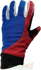 Перчатки лыжные Ski Team K19001WBR бело-сине-красный