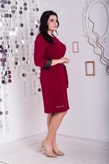 Франческа. Гарне плаття великих розмірів. Бордо